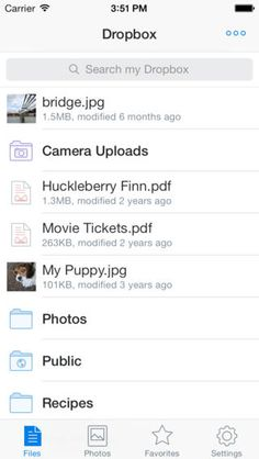 Dropbox: Bring all your photos, docs and videos anywhere and share them easily.