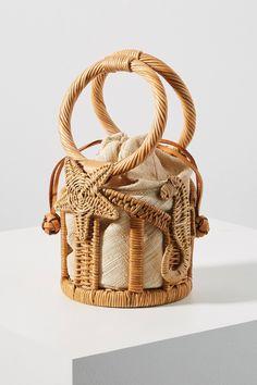 over 50 Aranaz Marina Mini Bucket Bag Purses And Handbags, Leather Handbags, Bucket Bag, Ethno Style, Diy Purse, Tote Purse, Unique Bags, Wicker, Weaving
