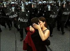 Love and revolution Real Love, Just Love, People Kissing, Riot Police, Cute Words, I Will Fight, The Power Of Love, Pretty And Cute, Jimi Hendrix