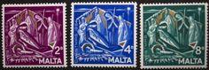 Christmas stamps, Malta, 1964, SG ref: 327-329, MNH
