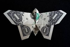 Origami Sculpture BUTTERFLY 3D Art Gift Money Figurine Real