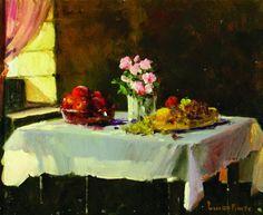 Luiz Pinto Mesa com Frutas e Flores – 20 x 25 cm OSM Ass. CID e Dat. 2007