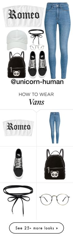 """Untitled #3086"" by unicorn-human on Polyvore featuring H&M, Vans and Les Petits Joueurs"