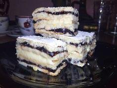 Citromos, szilvalekváros finomság, Hungarian Cake, Hungarian Recipes, Tiramisu, Dessert Recipes, Dessert Ideas, Food And Drink, Cookies, Drinks, Ethnic Recipes