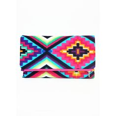 The Jill Clutch - Aztec Clutch Fold Clutch ($42) ❤ liked on Polyvore