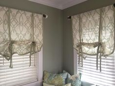 How To Make A No Sew Window Curtain Shade