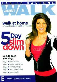 Booktopia has Leslie Sansone, Just Walk - 5 Day Slim Down by Leslie Sansone. Buy a discounted DVD of Leslie Sansone online from Australia's leading online bookstore. Fitness Diet, Fitness Motivation, Health Fitness, Leslie Sansone, Walking Plan, Knee Exercises, Blu Ray Movies, Walking Exercise, Yoga For Flexibility