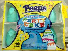 Party Cake Peeps - Cake flavored Peeps. I have died and gone to Peep Heaven,
