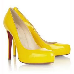Yellow high heels from Christian Louboutin