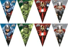 2.6 metre marvel avengers bunting / banner / birthday party decoration