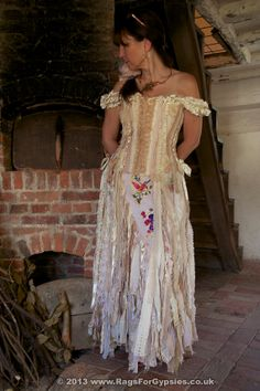 Exquisite Gypsy Rhiannon Ragged Tattered Long Skirt by RagsForGypsies on Etsy, £190.00