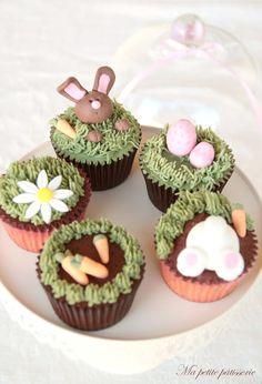 Ma petite pâtisserie: ¡Cupcakes de Pascua!
