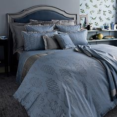 Calligraphie by Yves Delorme Coverlet Bedding, King Duvet Set, Bed Linens Luxury, Bed, Reversible Bedding, Duvet Bedding Sets, Luxury Bedding, Luxury Duvet Covers, New Beds
