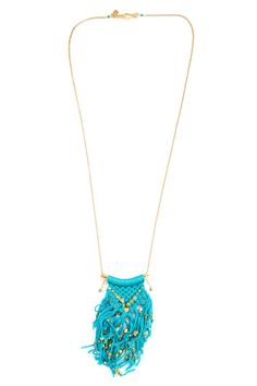 New Turquoise Cotton Cord Necklace Chan Luu