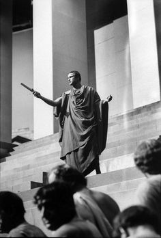 "Marlon Brando as Mark Antony in ""Julius Caesar"" (1953). Director: Joseph L. Mankiewicz."