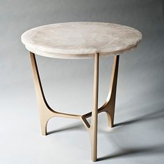 Athena White Quartz and Solid Bronze Side Table DeMuro Das Table Furniture, Luxury Furniture, Cool Furniture, Living Room Furniture, Furniture Design, Office Furniture, Furniture Cleaning, Furniture Dolly, Furniture Movers