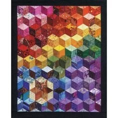 Cascading Rainbows Quilt Pattern