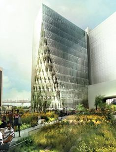 Solar Carve Tower / Studio Gang #NYC #highline