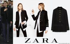 Queen Letizia of Spain . Zara Military Jacket