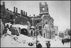 The ruins of Warsaw. On Wednesday, January 17, 1945, Soviet troops liberated Warsaw  from German occupation and seized it for the USSR.