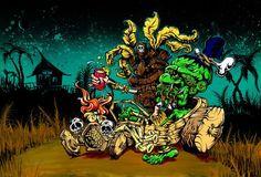 Under Islander Influence by David Lozeau Zombie Tiki Canvas Art Print – moodswingsonthenet
