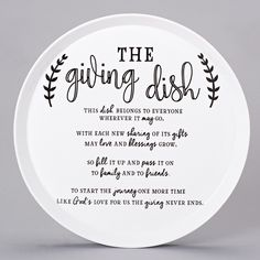 The Giving Dish Blessing Plate – Beattitudes Religious Gifts Diy Gifts For Kids, Diy Holiday Gifts, Homemade Christmas Gifts, Homemade Gifts, Trending Christmas Gifts, Family Christmas Gifts, Gifts For Family, Christmas Crafts, Christmas Plates