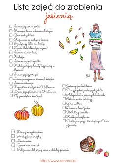 Lista zdjec do zrobienia jesienia_640 Day Plan, 30 Day Challenge, Fall Photos, Autumn Inspiration, Holidays And Events, Photo Sessions, Bujo, Stuff To Do, Diy And Crafts