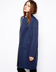 Navy bonded coat