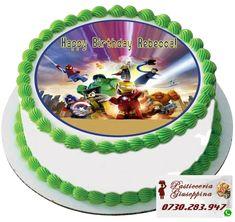 Tort de la Cofetaria Pasticceria Giuseppina ! Comanda direct pe WhatsApp : 0730283947 #torturi #bulevarduldacia #cofetaria #piata #gemeni Edible Cake Toppers, Birthday Cake Toppers, Cupcake Toppers, Cupcake Cakes, Happy Birthday Rebecca, Edible Printing, Cake Images, Cake Shop, Lego Marvel