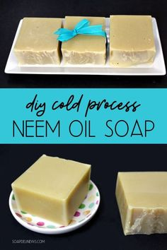 Neem oil soap recipe. Learn how to make a cold process neem oil soap recipe for the many skin care benefits of neem oil for problem skin. This DIY neem oil soap makes a great addition to a natural skin care routine for problem skin issues. It helps improve skin appearance and promote skin health while addressing skin issues such as dry skin, eczema, acne and fungal skin issues. This cold process soap helps to soothe a variety of common skin ailments and can prevent reoccurence. #soap #neemoil
