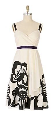 Black and White Pen & Ink Maxi Dress by Anthropologie. The big graphic floral is awesome! Have to have it!