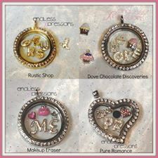 Some of our premade locket see our complete collections on my website http://endlessxpressions.com/store/#charmers