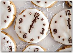 Festive Cookies for New Years @ourhouseofjoyfulnoise.com; what a cute way to celebrate New Year's Eve