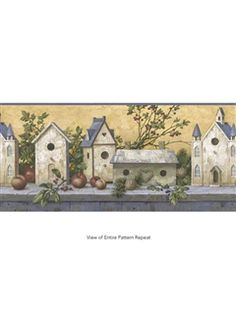 York Wallcoverings Friends &amp- Family Shelf Wallpaper Border ...