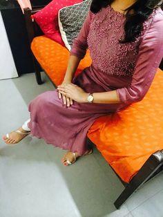 More Salwar Designs, Kurti Neck Designs, Kurta Designs Women, Blouse Designs, Kurtha Designs, Salwar Pattern, Simple Kurta Designs, Gown Party Wear, Kurti Embroidery Design
