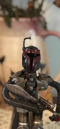 Excited to share this item from my shop: Boba Fett Sculpture Star Wars metal art sculpture figurine Old Car Parts, Mike Jackson, Metal Art Sculpture, Scrap Material, Cute Cows, Boba Fett, Old Cars, Folk Art, Sculptures
