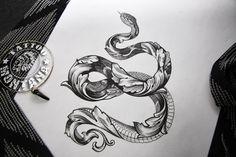 Tattoo змеи эскиз - tattoo's photo In the style Snak Unique Tattoos, Cute Tattoos, New Tattoos, Small Tattoos, Tattoos For Guys, Tattoo Sketches, Tattoo Drawings, Tattoo Foto, Dagger Tattoo