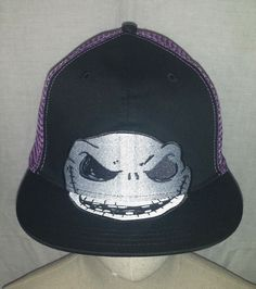 0d715197087 Disney The Nightmare Before Christmas Jack Skellington mesh snapback cap hat  NWT