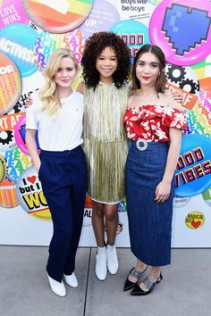 """Ava Phillippe, """"A Wrinkle in Time"""" star Storm Reid and Rowan Blanchard attend the Teen Vogue Summit in Los Angeles on Dec. 2, 2017."""