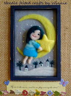 Items similar to Needle felted OOAK Picture handmade- Three Little Girls on Etsy 3d Pictures, Three Little, Felt Animals, Felt Crafts, Needle Felting, Little Girls, Crafty, Wool, Christmas Ornaments