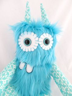 Plush Monster BASIL handmade one of a kind stuffed doll. $28.00, via Etsy.