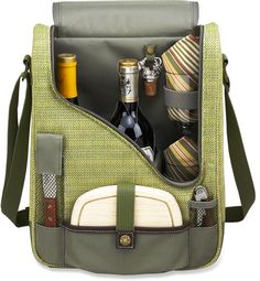 The Picnic at Ascot Wine & Cheese cooler tote combines an insulated wine bottle carrier with accessories. #REIGifts