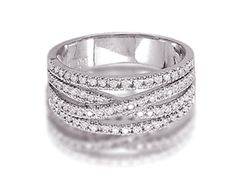I would love this as a right-hand ring! :-)  White Gold Diamond Woven Band Ring