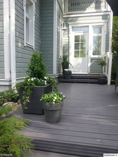 Outdoor Pots, Outdoor Spaces, Outdoor Gardens, Outdoor Living, Outdoor Decor, Scandinavian Garden, Evergreen Garden, Garden Paving, Small Courtyards