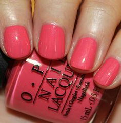 OPI Suzy's Hungry Again | Love my new coral shade. So pretty!