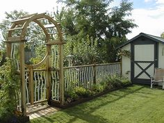 I designed and built garden gate and fence...