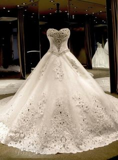 Crystaly beaded ball gown