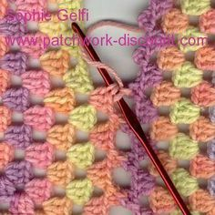 Tissus Patchwork: Tutorial assembling Granny Squars with picots #crochet