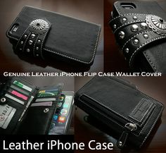 Concho can be selected according to your taste !   Genuine Leather iPhone 6 Plus/6s/7 Plus Flip Case Wallet WILD HEARTS Leather&Silver (ID ip2804r93)  http://global.rakuten.com/en/store/auc-wildhearts/item/ip2804r93/