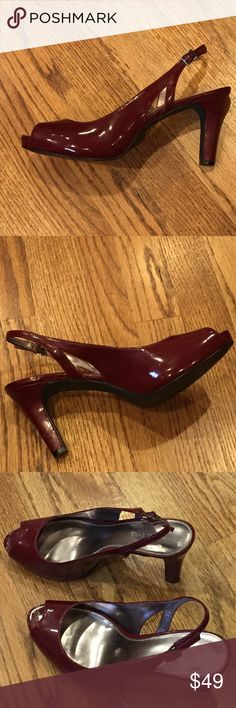 Size 8 pumps Size 8 Women's Cranberry pumps by Kristin Davis. Super comfortable and perfect color for the holidays! Looks great with jeans, too. Kristin Davis Shoes Heels